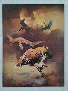 RARE Vintage '71 Frank Frazetta Flying Reptiles Jigsaw Puzzle 551 Piece Complete