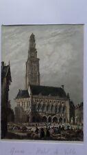 Arras - gravure de 1853 - couleur.
