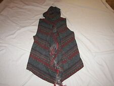 Women's Lapis Hoodie Vest / Shawl - Size M