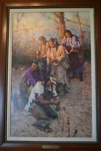 """howard terpning canvas signed limited edition """"Offerings to the Little People"""""""