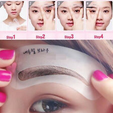 3Styles/set Eyebrow Grooming Stencil Kit Template Makeup Brow DIY Tools Reusable