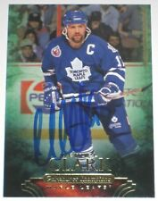 WENDEL CLARK SIGNED 11-12 UD PARKHURST CHAMPIONS MAPLE LEAFS CARD AUTOGRAPH!