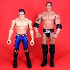 The Rock & Flexforce Evan Bourne WWE Mattel Basic Wrestling Figure Lot_s101