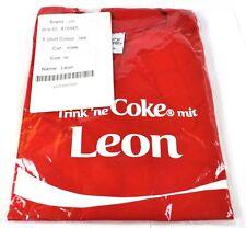Coca-Cola Coke Leon Camiseta roja Tamaño M Nombre de pila con