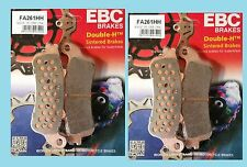 2x conjuntos Ebc fa261hh Sinterizadas Delanteras Pastillas De Freno Para Honda Vfr Vfr800 1998 A 2005