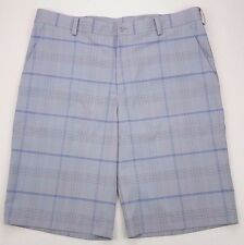NIKE Golf SHORTS Gray CHECKED 36 Mens MULTICOLOR Flat FRONT Blue SIZE 360203 Sz*
