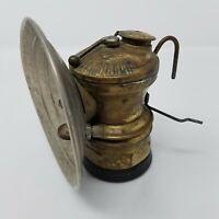Vintage Miners Light Auto-Lite Carbide Light Universal Lamp Co. Brass Lantern