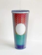 Starbucks Pride 2020 Limited Edition Studded Rainbow Cold Cup Tumbler LGBT