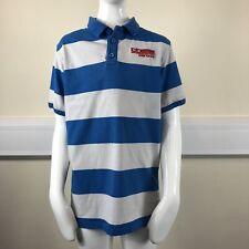 Carbrini Boys Blue White Stripe Short Sleeve Polo T-Shirt UK Age 10-11 Years