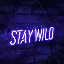 """Stay Wild"" Bistro Pub Room Man Cave Wall Decor Display Custom Neon Sign Light"