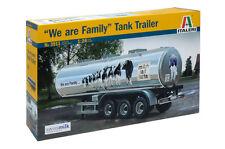 "Italeri 3911 1/24 Scale Model Truck Kit ""We are Family"" Tank Trailer"