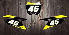 Suzuki RM H. Motocross número fondos 85 125 250 450 calcomanías/Pegatinas