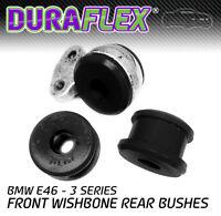 E46 Front Wishbone Rear Bushes in Black Duraflex Polyurethane