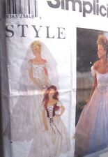 Simplicity sewing pattern no. 9163 LADIES WEDDING DRESS size 10