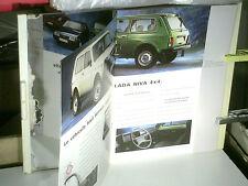 GAMME LADA 1995 : NIVA/ SAMARA/ 2104/2107 (ex FIAT 124/125)