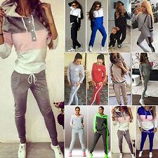 Womens Tracksuit Hoodies Sweatshirt Tops Pant Fitness Jogger Sportswear 2pcs Set