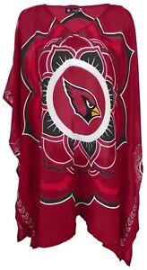 Women's NFL Arizona Cardinals Caftan Semi-Sheer Game day Top Blouse Shirt $34.99