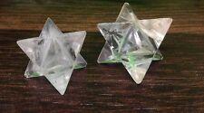 Clear Quartz Merkaba Stars for reiki healing chakra balancing crystal grid