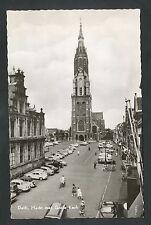 Delft  Markt met Grote Kerk