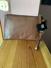 FRYE LEATHER WRISTLET WALLET IN COGNAC NWT'S  MSRP $158.