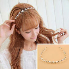 Crystal Headband Chic Women Bridal Pearls Rhinestone Wedding Hair Head Band