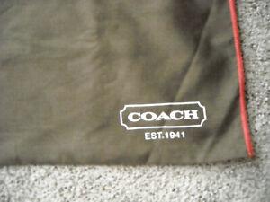 "COACH dust cover bag for purses, aka purse protector bag, 22"" by 18"" deep"