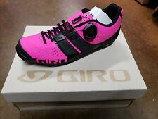NEW Giro Sica Techlace Cycling Shoes Black Bright Pink EU 39/US W 7.5