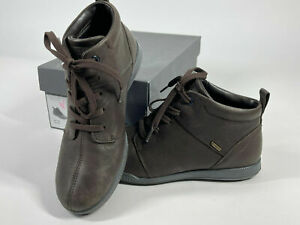 Ladies Ecco Crisp Goretex Ankle Boots UK 7 Waterproof Bown Leather New In Box