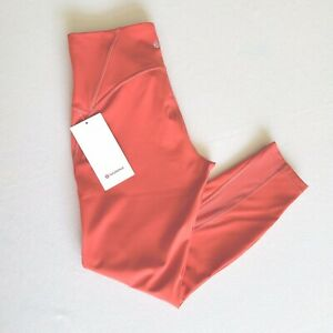 """Lululemon Train Times HR Tight 25"""" Size 8 Poppy Coral PPYC $98 NEW WITH TAGS!"""
