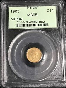 1903 G$1 McKinley LA Purchase Gold Commemorative Dollar MS-65 PCGS, Nice Coin!