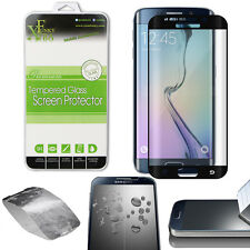 FULL CURVED TEMPERED GLASS SCREEN PROTECTOR FOR SAMSUNG GALAXY S6 EDGE - BLACK