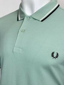 Fred Perry   Twin Tipped M3600 Pique Polo Shirt XXL (Green) BNWT Mod Scooter 60s