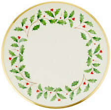 """Lenox Holiday Dinner Plate Gold Banded Ivory China 10.75"""" New"""