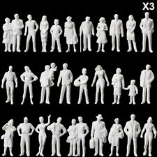 90pcs 1:43 All Standing Unpainted White Figures O Scale People Passenger P4310B