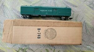 American Flyer 732 Green Operating Baggage Car With Orig. American Flyer Box