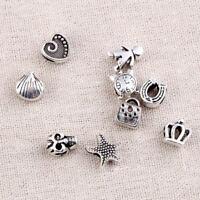 Fashion Beads Dreadlock Cuff Bags Love Pattern Alloy Jewelry Accessories 10 Pcs