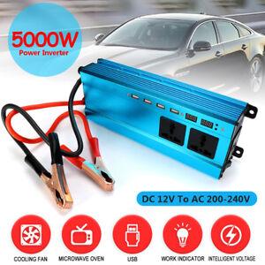 5000W Solar Power Inverter LED Display 12Vto220V AC Sine Wave Converter Latest
