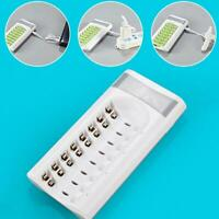8 Slot Battery Charger For Ni-MH Ni-CD AA AAA Rechargeable Batteries USB Charger