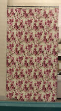 Waverly Tree Blossom Shower Curtain with 12 beaded metal Hooks NIP Floral