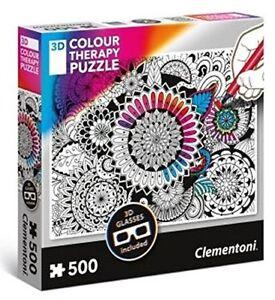 Clementoni - 35053 - 3D Colour Therapy Puzzle - Mandela - 500 Pieces