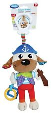 PlayGro Activity Friend Salty Sea Dog Puppy Pirate Rattle Teether Clip On Lovey