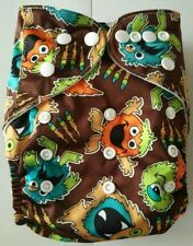 New Monster Pocket Cloth Diaper Nappy Reusable Washable Adjustable Eco Friendly