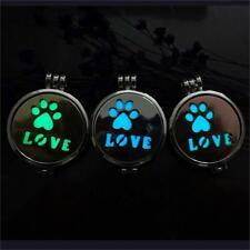 Dog Puppy Paw Footprint Style Glow in The Dark Locket Pendant Personal Necklace!