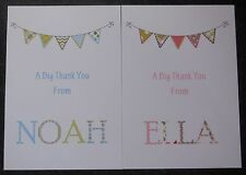 10 Personalised Thank You Cards - Boys - Girls - New Baby-Christening - Postcard