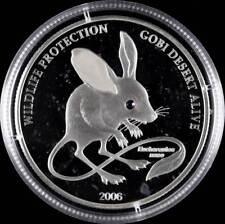 52775) Mongolei 500 Tögrög Silber 2006 Gefährdete Tierwelt in Kapsel PP