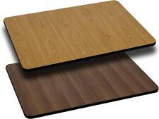 24' X 30' Rectangular Table Top With Natural Or Walnut Reversible Laminate Top