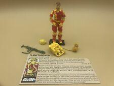 Hasbro GI Joe BlowTorch 1984 (Complete w/Filecard)
