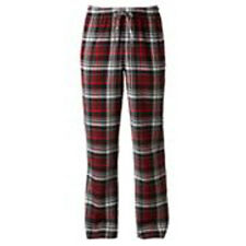 MENS APT 9 PATTERNED FLANNEL LOUNGE PANTS BLACK RED PLAID LARGE L NEW NWT