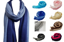 Ladies Soft Toned Blend Pashmina Shawl Scarf Wrap