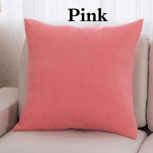 Pillow Case Corduroy Cushion Cover Square Pillowcase Sofa Room Home Decorate